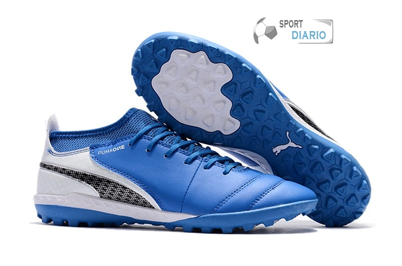 Oferta Botas Puma One Leather 18.1 Syn TF Azul