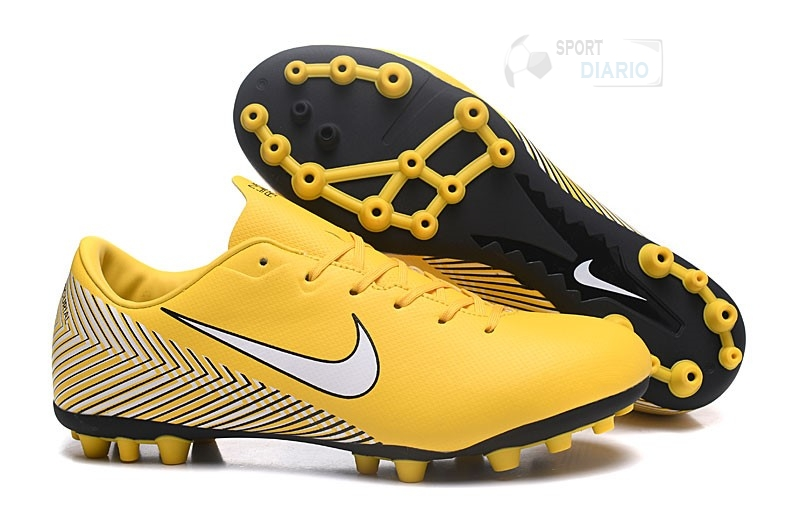 low cost 502a0 1c9be Oferta Botas Nike Mercurial Vapor XII Academy CR7 Mujer AG Amarillo