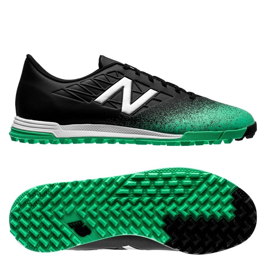 Oferta Botas New Balance Furon 5.0 Dispatch Niños TF Negro Verde