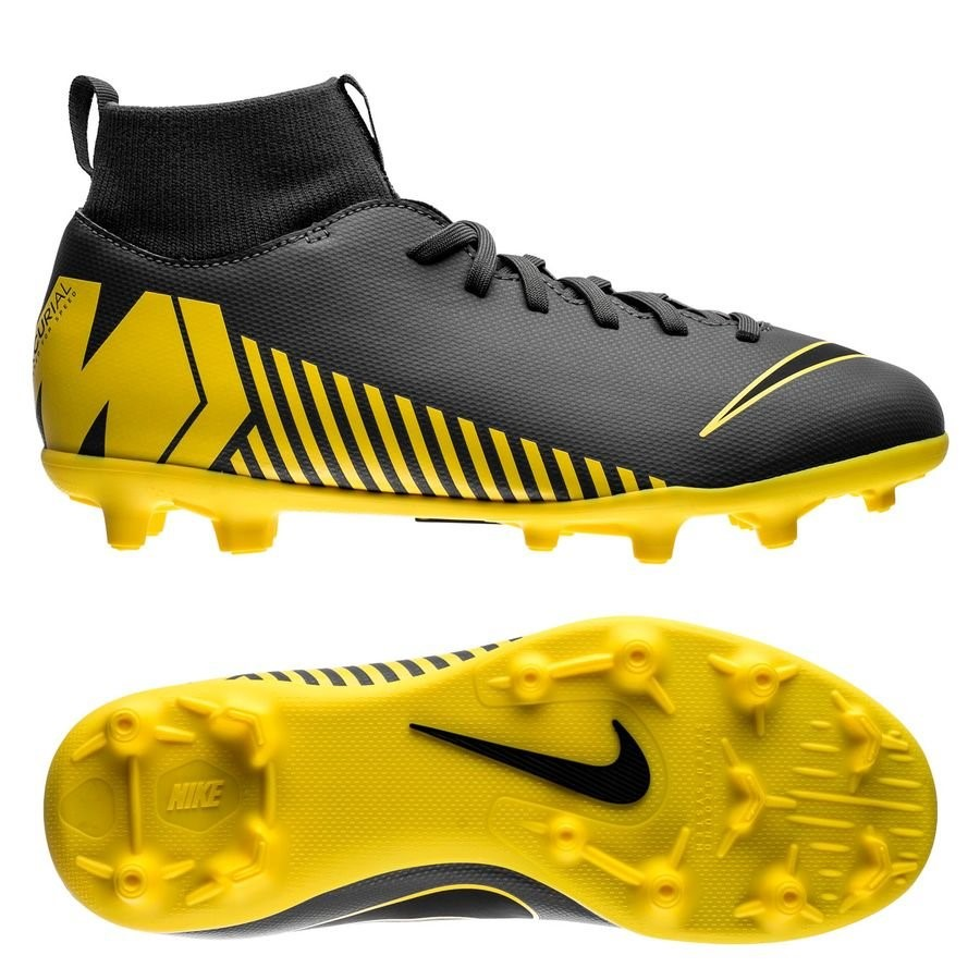 Oferta Botas Nike Mercurial Superfly 6 Club Niños MG Game Over Gris Amarillo