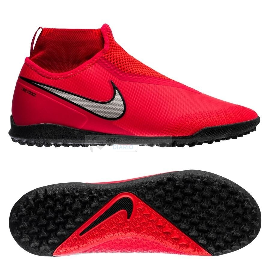 Oferta Botas Nike Phantom Vision React Pro DF TF Game Over Rojo Plata