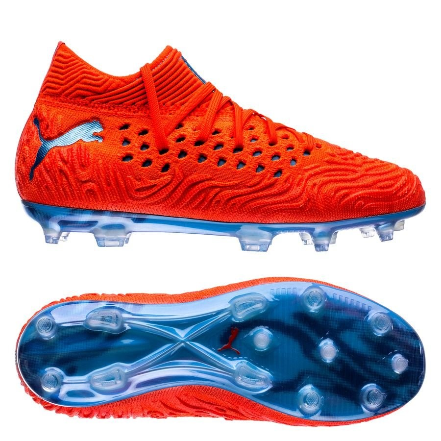 Oferta Botas Puma Future 19.1 Netfit Niños FG/AG Power Up Rojo Azul