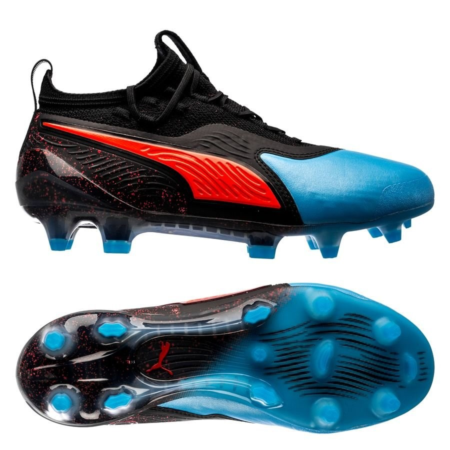 Oferta Botas Puma One 19.1 Niños FG/AG Power Up Negro Azul