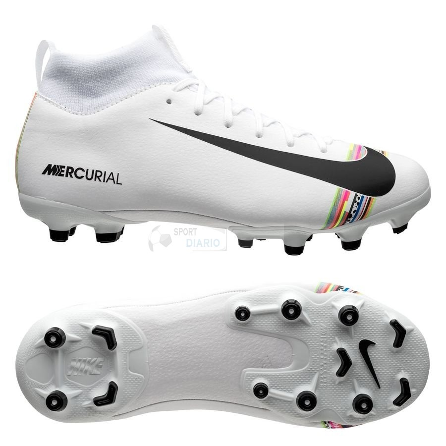 Oferta Botas Nike Mercurial Superfly 6 Academy Niños MG LVL UP Blanco