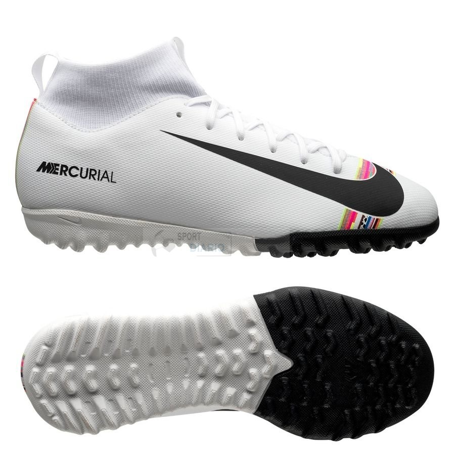 Oferta Botas Nike Mercurial Superfly 6 Academy Niños TF LVL UP Blanco