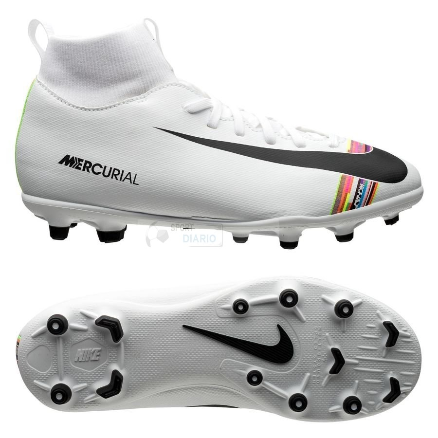 Oferta Botas Nike Mercurial Superfly 6 Club Niños MG LVL UP Blanco